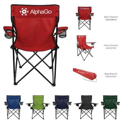 Folding Captains Chair with Carry Bag'